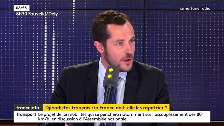Nicolas Bay, invité sur franceinfo lundi 3 juin 2019. (FRANCETVINFO)