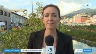 Les secours s'activent à Gênes. (FRANCE 3)