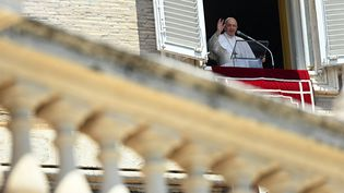 Le pape François au Vatican a évoqué Sainte-Sophie lors de l'Angelus du dimanche 12 juillet 2020 (VINCENZO PINTO / AFP)