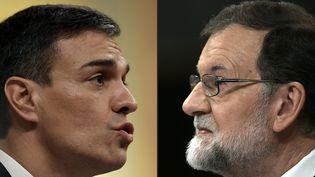 Le leader socialiste Pedro Sanchez devient, le 1er juin 2018, le chef du gouvernement espagnol après le vote d'une motion de censure contre le gouvernement de Mariano Rajoy. (OSCAR DEL POZO / AFP)