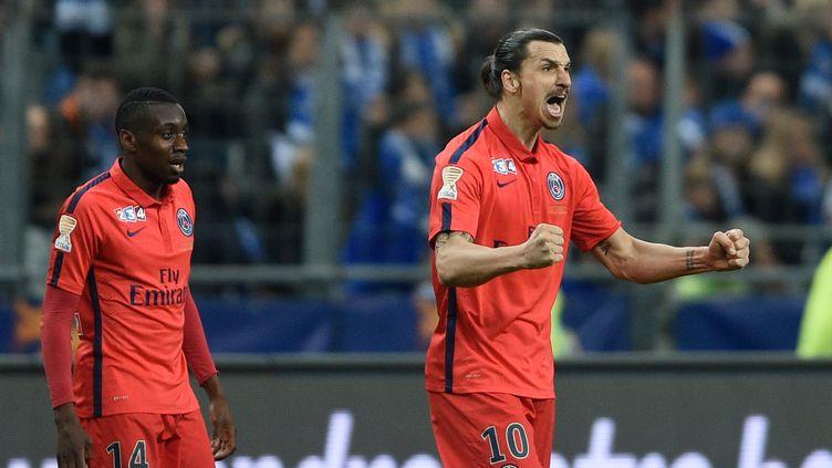 Zlatan Ibrahimovic heureux au PSG (MARTIN BUREAU / AFP)