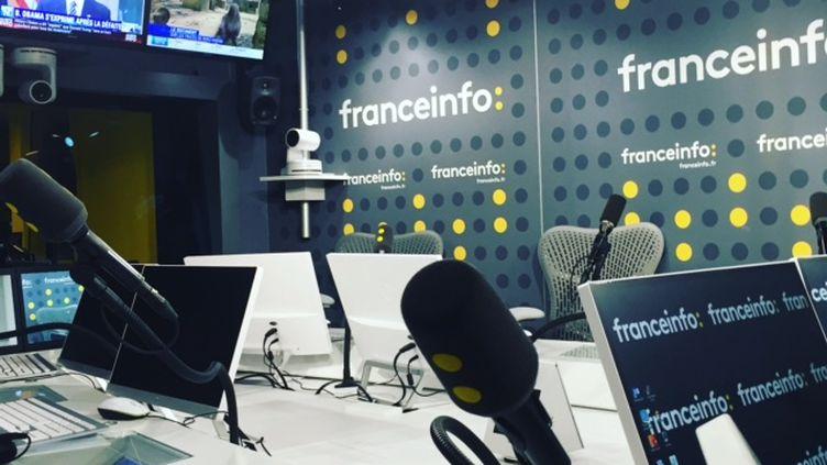 L'un des studios de franceinfo. (Cyril Destracque / Radio France)