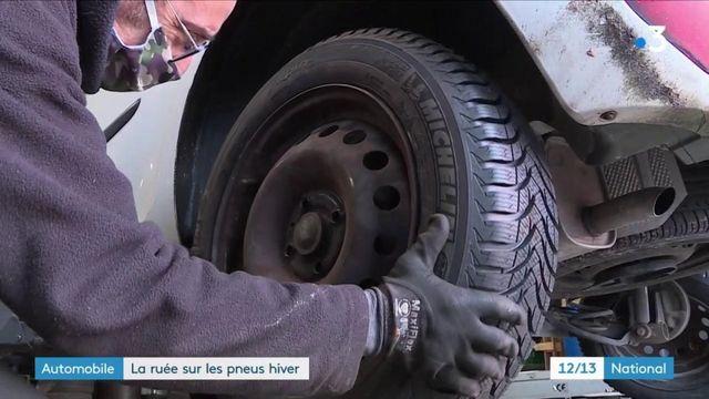 Premiers flocons : les Français équipent leur voiture avec des pneus hiver