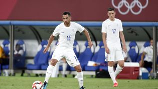 Téji Savanier, lors du premier match des Bleus contre le Mexique, le 22 juillet 2021. (HERVIO JEAN-MARIE / KMSP / AFP)