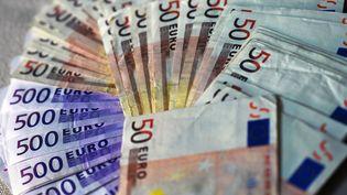 Des liasses de billets de 500 euros ont bouché les toilettes de trois restaurant et d'une banque de Genève (Suisse). (JENS KALAENE / ZB / AFP)