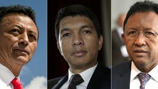 Marc Ravalomanana, Andry Rajoelina, Hery Rajaonarimampianina, anciens présidents et candidats à l'élection présidentielle à Madagascar.