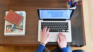 Illustration du travail à domicile, privilégié quand c'est possible en temps de confinement. (PIERRICK DELOBELLE / MAXPPP)