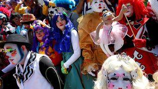 Manifestation de clowns à Mexico le 19 octobre 2016. (CARLOS JASSO / REUTERS)