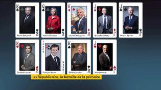 Lespotentiels candidats à la primaire de la droite (FRANCEINFO)