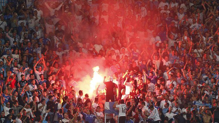 (Les supporters de l'Olympique de Marseille © MaxPPP)