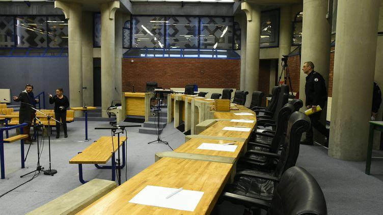 Le tribunal de Bobigny, le 25 octobre 2016. (BERTRAND GUAY / AFP)