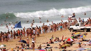 La plage de Labenne (Landes), le 20 juillet 2009. (MAXPPP)