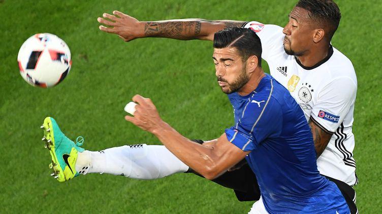 Graziano Pellé avec l'Italie.  (MEHDI FEDOUACH / AFP)