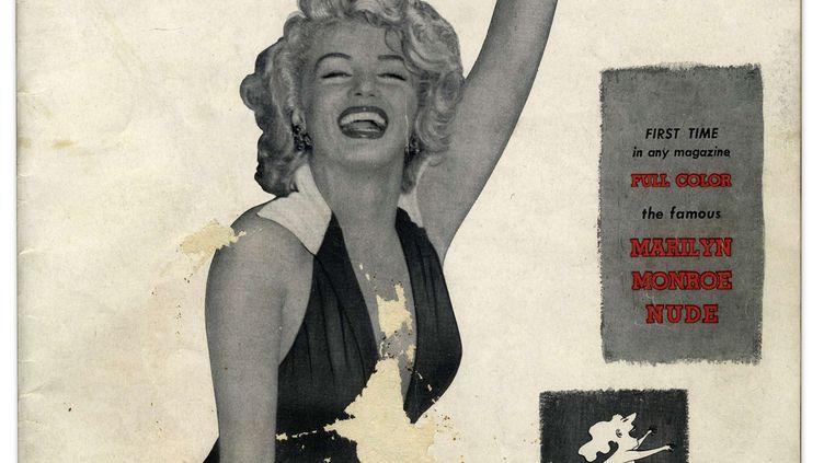 Premier exemplaire de Playboy avec Marilyn Monroe en couverture. L'original datant de 1953 a été vendu lors d'une vente aux enchères en 2015. (CATERS/SIPA / CATERS NEWS AGENCY)