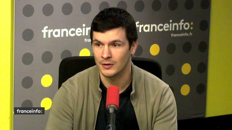 Martial Chaffraix, professeur au lycée Maurice-Utrillo de Stains (Seine-Saint-Denis), le 6avril 2018. (FRANCEINFO / RADIOFRANCE)