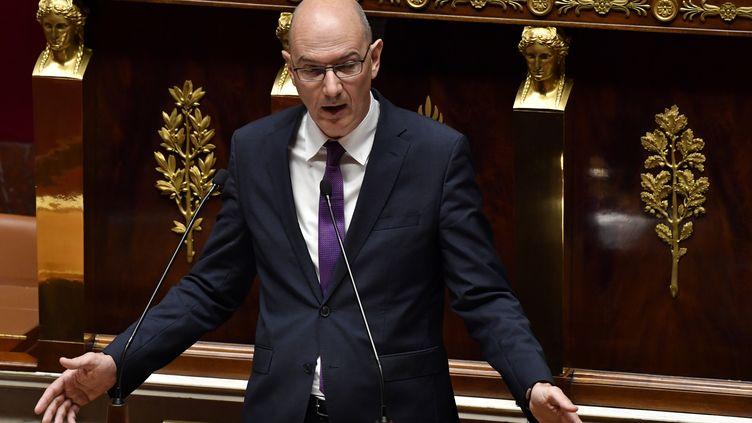 Roland Lescure à l'Assemblée nationale, le 22 mai 2018. (GERARD JULIEN / AFP)