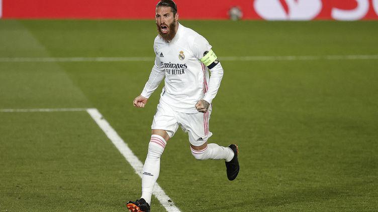 L'ex-capitaine du Real Madrid, Sergio Ramos, a signé avec le Paris Saint-Germain le 8 juillet2021, pour deux ans. (BURAK AKBULUT / ANADOLU AGENCY / AFP)