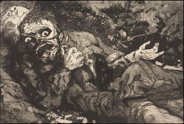 L'un des dessins d'Otto Dix au front  (DR)