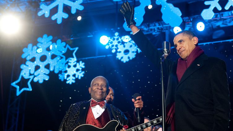 B.B. King et Barack Obama en 2010  (SAUL LOEB / AFP)