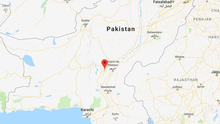 La contamination s'est produite dans le district de Larkana, dans le sud du Pakistan. (GOOGLE MAPS)