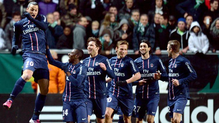 Zlatan Ibrahimovic et ses coéquipiers du PSG