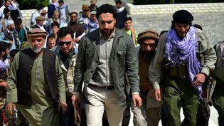 Ahmad Massoud, le 5 juillet 2021, dans la province du Pandjchir, en Afghanistan. (AHMAD SAHEL ARMAN / AFP)