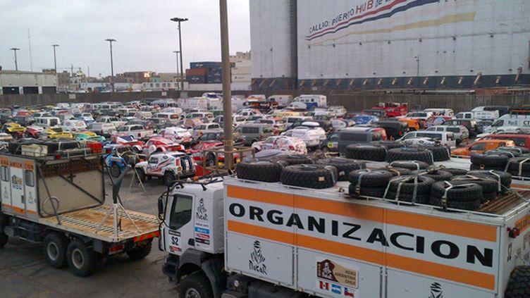L'arrivée du cargo à Lima