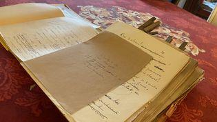 Les manuscrits inédits de Céline, volés en 1944 et retrouvés en 2020. (NICOLAS BOVE / AFP)