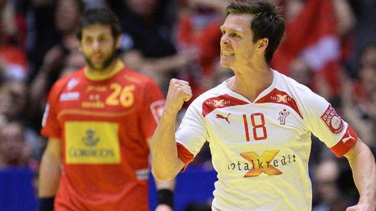 Hans Lindberg avait la rage contre l'Espagne (JONATHAN NACKSTRAND / AFP)