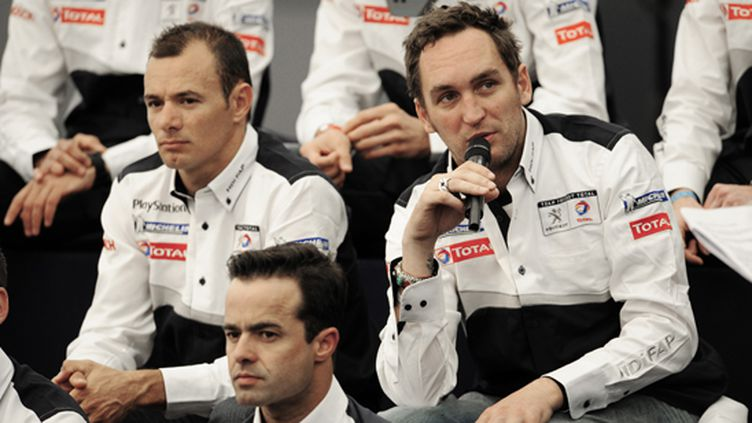 Franck Montagny pendant la conférence de presse Peugeot (VINCENT CURUTCHET / DPPI)