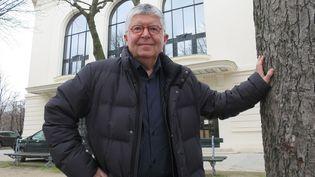 Jean-Luc Choplin devant le Théâtre Marigny en mars 2018  (PhotoPQR / Le Parisien / MaxPPP)