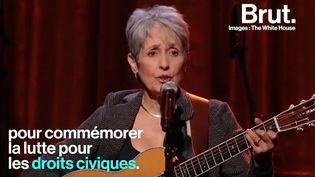 La chanteuse de folk a combattu toute sa vie pour ses revendications. (BRUT)