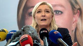 Marine Le Pen, la présidente du FN et candidate aux élections régionales en Nord-Pas-de-Calais Picardie, le 7 décembre 2015 à Lille. (DENIS CHARLET / AFP)