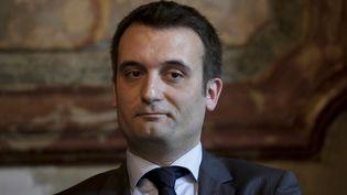Le vice-président du Front national, Florian Philippot, lors d'une conférence de presse à Paris, le 26 juin 2015. (MAXPPP)