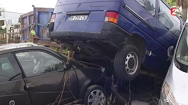 Intempéries meurtrières : les voitures n'ont pas résisté