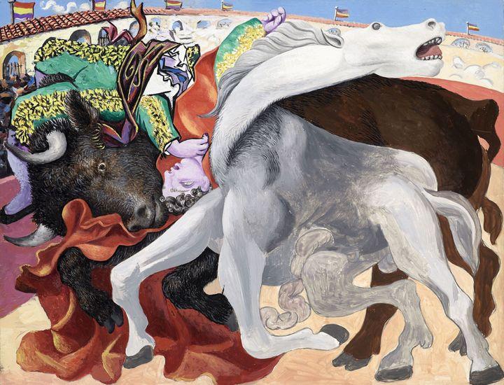 "Pablo Picasso, ""Corrida : la mort du torero"", 19 septembre 1933, Musée national Picasso-Paris  (RMN‐Grand Palais / Mathieu Rabeau © Succession Picasso 2018)"