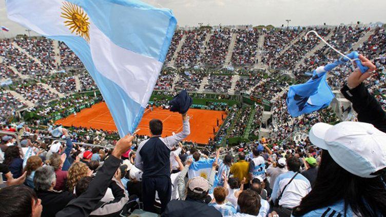 Les supporteurs argentins dans la Parque Rocca