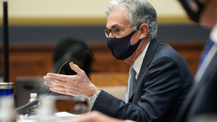 Jerome Powelllors d'un débat sur la gestion de la pandémie de Covid-19, le 2 décembre 2020 à Washington (Etats-Unis). (POOL / GETTY IMAGES NORTH AMERICA / AFP)