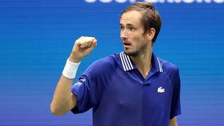 Daniil Medvedev, vainqueur de l'US Open 2021 face au Serbe Novak Djokovic, lundi 13 septembre. (MATTHEW STOCKMAN / GETTY IMAGES NORTH AMERICA)
