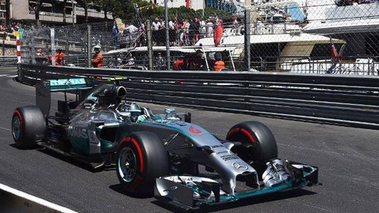 L'Allemand Nico Rosberg au volant de sa Mercedes