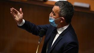 Gérald Darmanin, le ministre de l'Intérieur, à l'Assemblée nationale à Paris, le 4 mai 2021. (CHRISTOPHE ARCHAMBAULT / AFP)