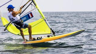 Thomas Goyard (ici le 26 juillet 2021) remporte une première médaille olympique pour ses débuts aux Jeux. (AGENCE KMSP / AFP)