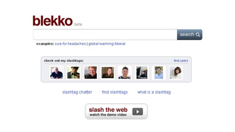 Page d'accueil de Blekko (DR)