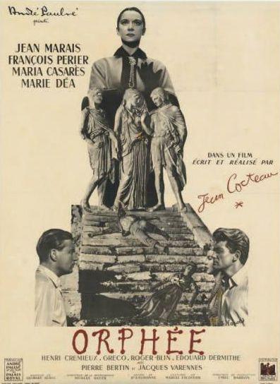 Orphée de Jean Cocteau. Affiche française 1950.  (Néret-Minet  Tessier & Sarrou)