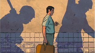 """Une case de """"Sur un air de fado"""" de Nicolas Barral. (DARGAUD)"""