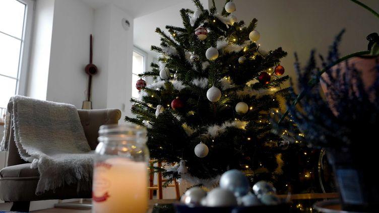 Les décorations de Noël d'une maison à Lons-le-Saunier (Jura), le 30 novembre 2020. (MAXPPP)