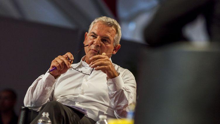 Thierry Lepaon, alors secrétaire général de la CGT,le 13 septembre 2014 à la Fête de l'Humanité à La Courneuve (Seine-Saint-Denis) (CITIZENSIDE / AURELIEN MORISSARD / AFP)