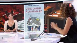 """Hélène Bekmezian est l'invitée du journal de 13H de ce mardi 20 juin. Elle présente son livre """"J'irai dormir à l'Assemblée"""". (FRANCE 2)"""