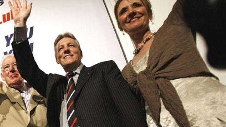 Le Premier ministre d'Ulster, Peter Robinson et son épouse, Iris Robinson. (AFP - Peter Muhly)