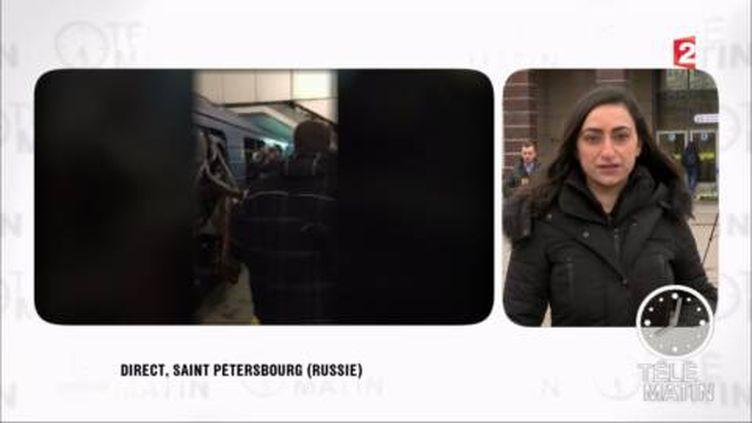 Rola Tarsissi, correspondante à Saint-Pétersbourg. (FRANCE 2)